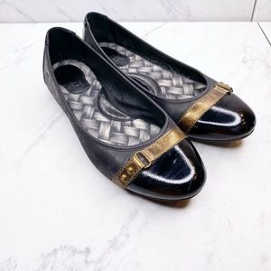 Born Masia Black Ballet Flats Leather Size 6.5